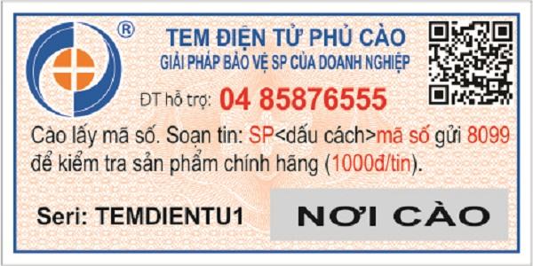 Tem chống hàng giả điện tử SMS phủ cào