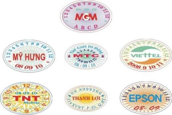 Giấy dán tem bảo hành giá rẻ