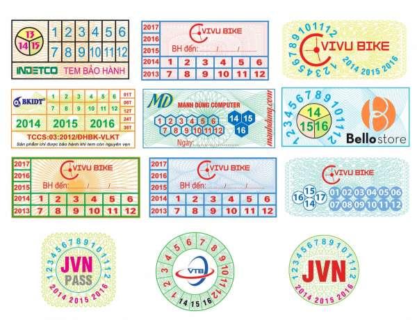 In tem bảo hành giá rẻ