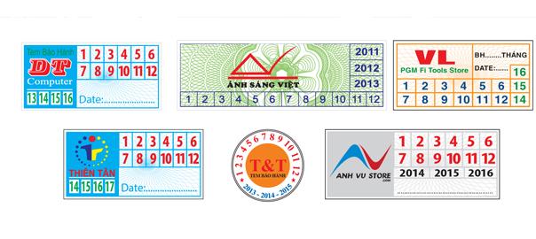 Giấy in tem bảo hành chất lượng