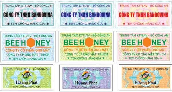 Các mẫu tem chống hàng giả giá rẻ