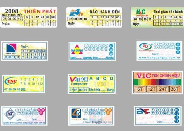 In tem bảo hành số lượng ít