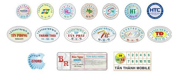 Đặc điểm của tem bảo hành quận 9
