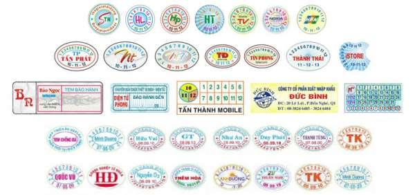 Địa chỉ in tem bảo hành quận Bình Tân