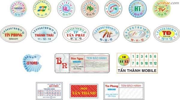 Thiết kế tem bảo hành cảm nhiệt