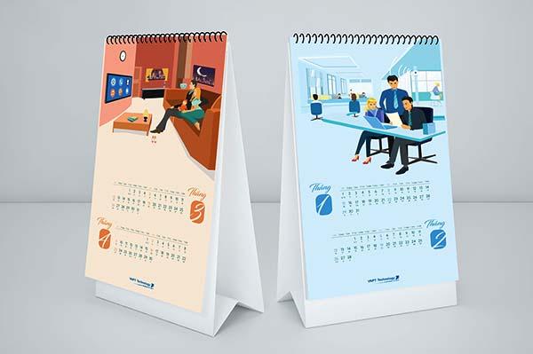 thiết kế lịch bàn