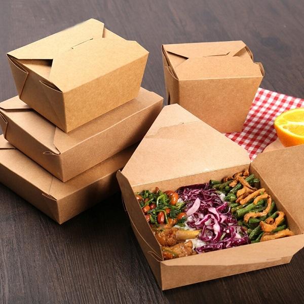 hộp giấy đựng cơm kraft giá rẻ