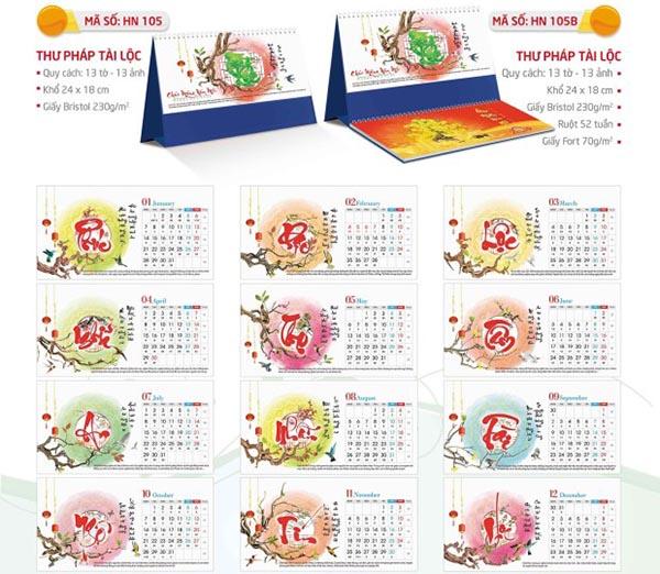 in lịch để bàn tại Quận Tân Bình