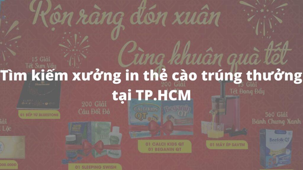 Kinh nghiệm tìm kiếm xưởng in thẻ cào trúng thưởng tại TP.HCM