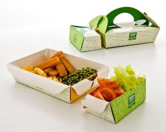 Mẫu hộp giấy đựng thức ăn vỉa hè