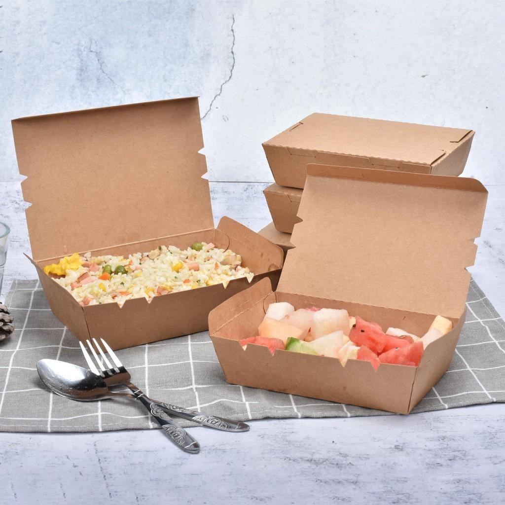 Hộp giấy Kraft đựng thức ăn nhanh