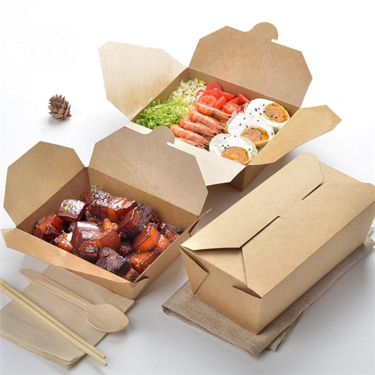 Các loại hộp giấy đựng thức ăn
