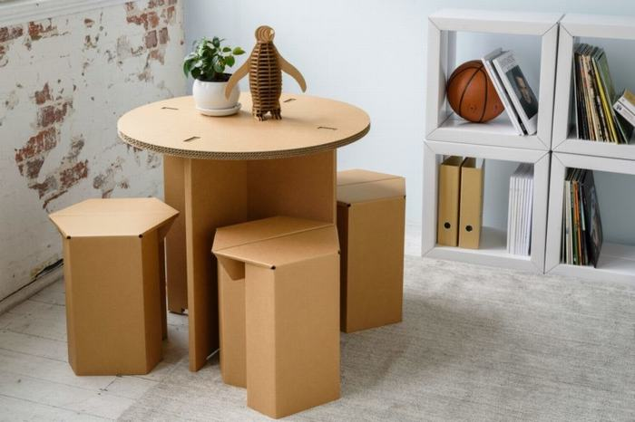 Hộp carton tái chế - Điểm danh đồ nội thất được tái chế từ loại hộp này phần 2