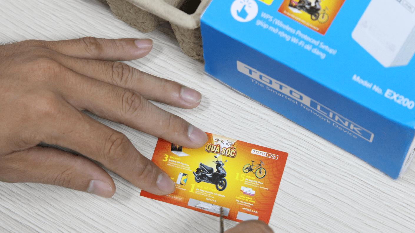 Thẻ cào trúng thưởng - Bỏ túi 4 ý tưởng khi sử dụng thẻ cào