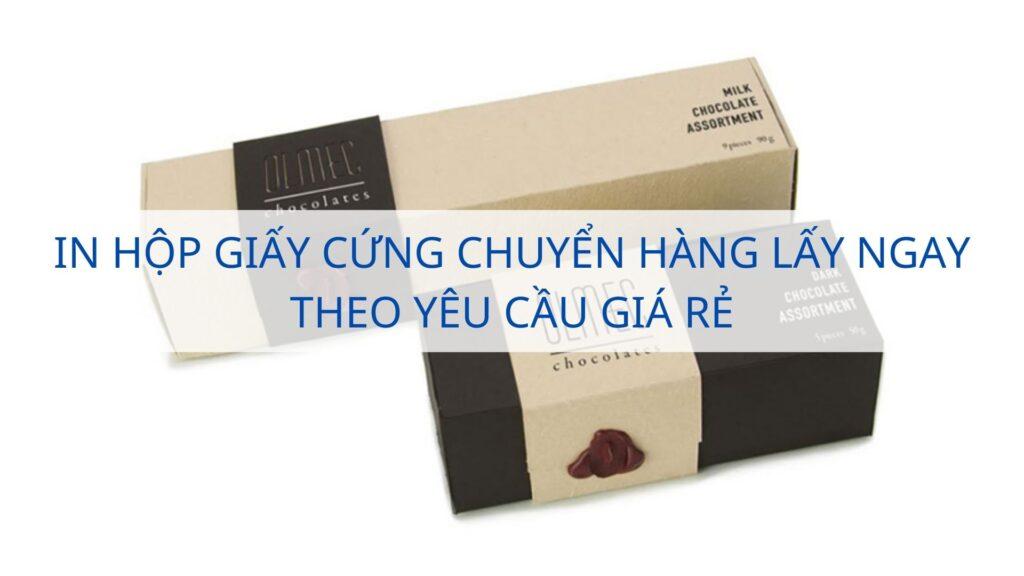 In hộp giấy cứng chuyển hàng lấy ngay theo yêu cầu giá rẻ