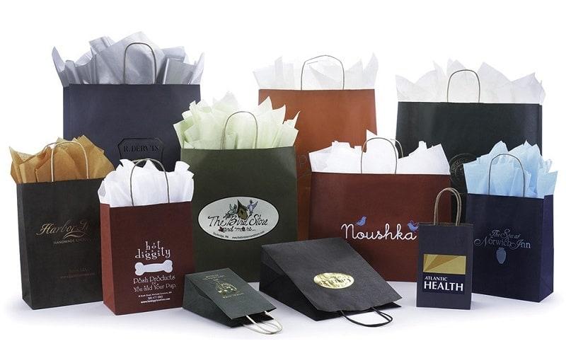 Túi giấy đựng mỹ phẩm màu chuyển sắc