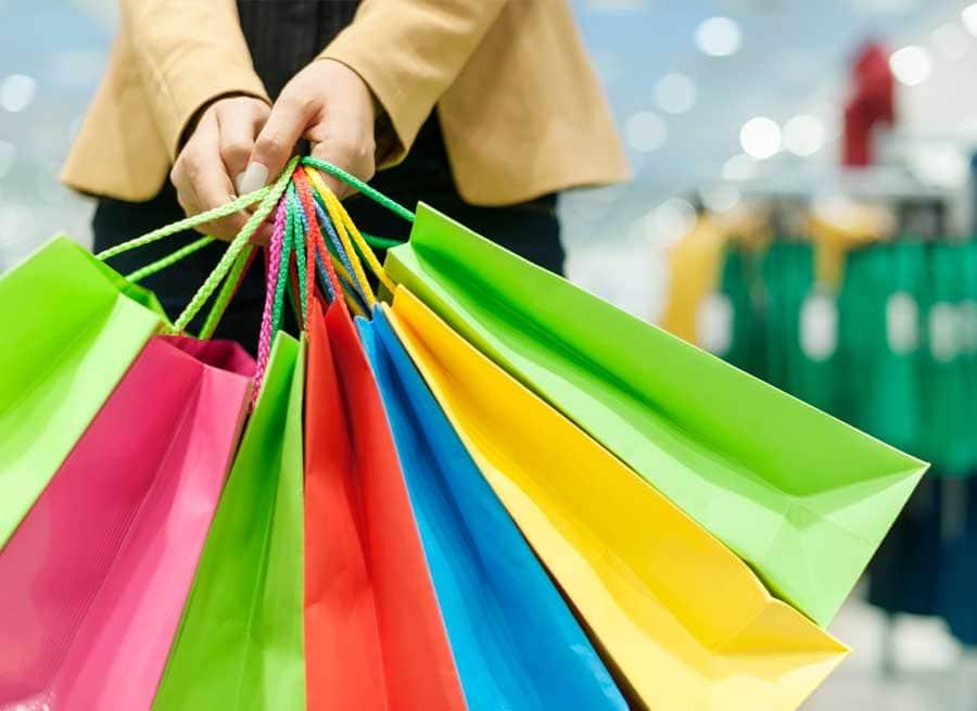 Túi giấy sản xuất theo ngành hàng quần áo