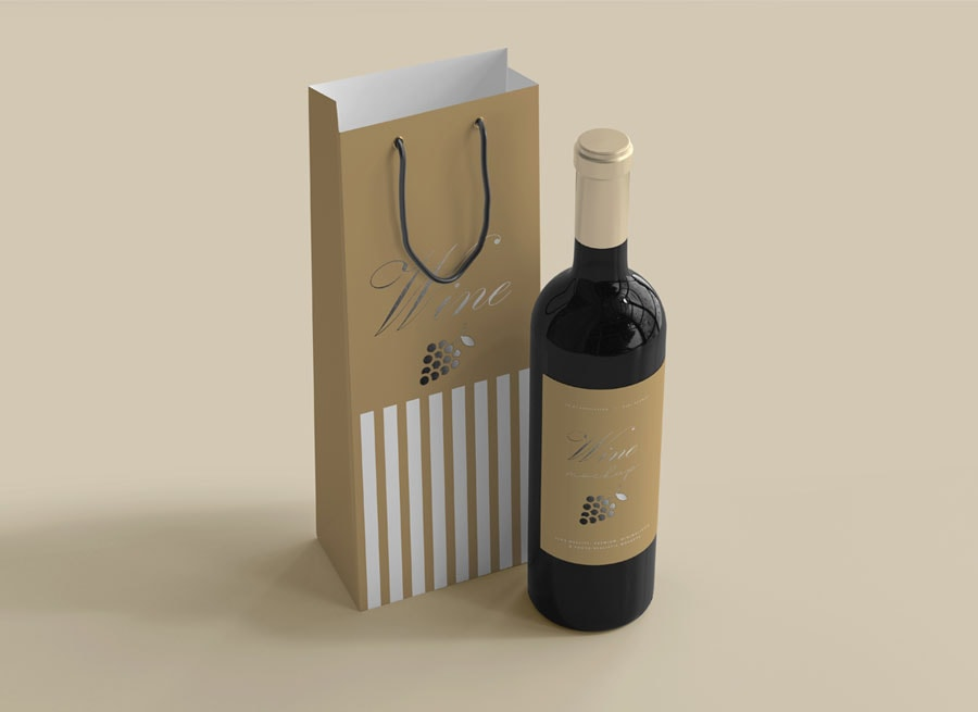 Túi giấy trong ngành hàng đựng rượu