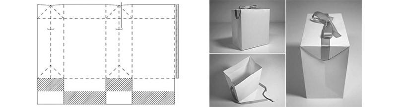 Túi giấy quà tặng hình hộp