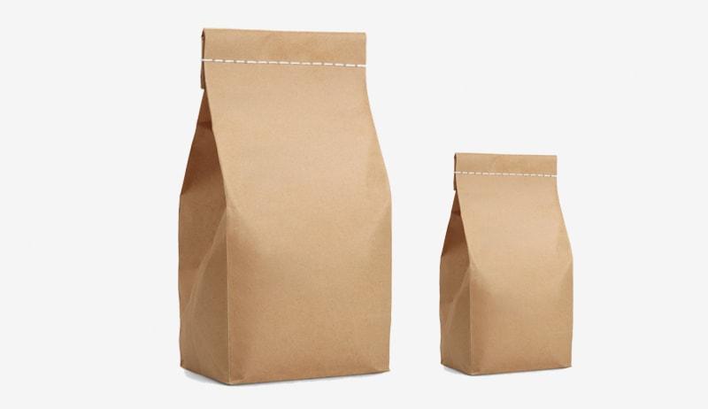 Túi giấy kraft không quai tùy chỉnh
