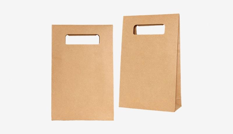Túi giấy kraft không quai dạng mở