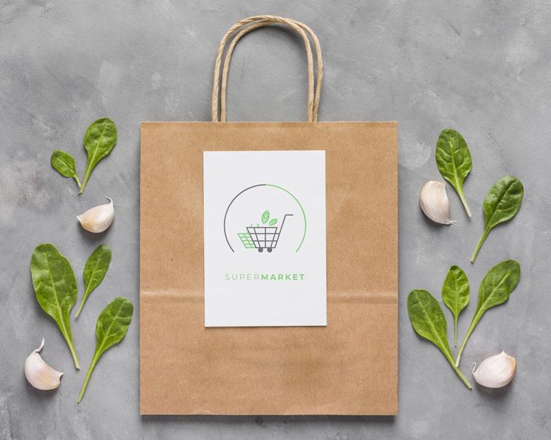 Túi quà thân thiện - Giấy tái chế màu trắng, nâu hoặc có in