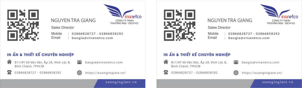 Mẫu card visit điện lạnh, Mẫu card visit bán hàng, mẫu namecard053