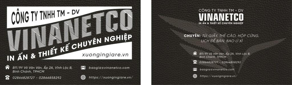 in name card giấy kraft, in name card ép kim tphcm, mẫu namecard164